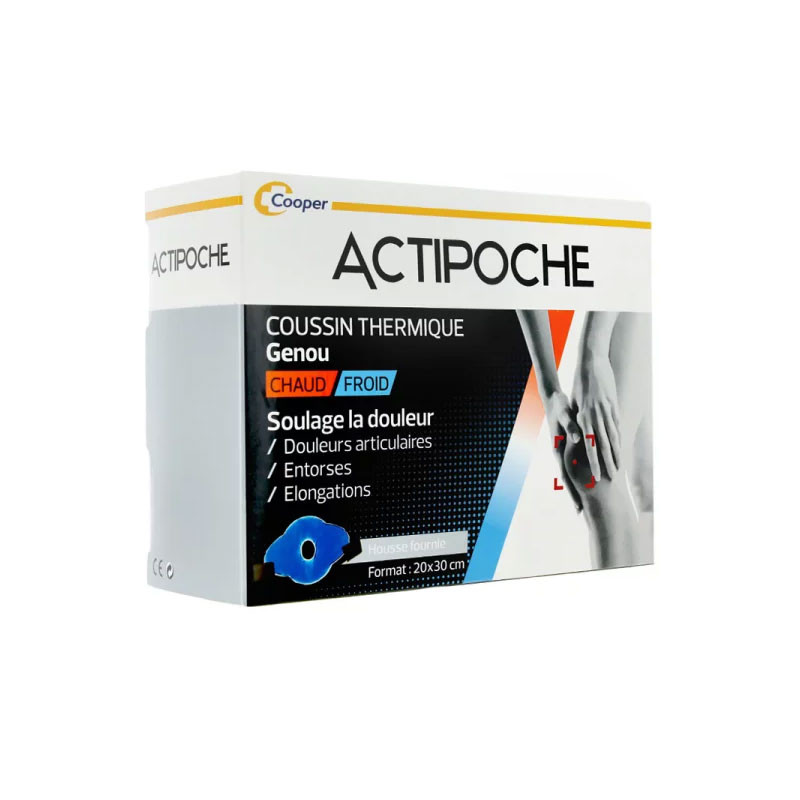 ACTIPOCHE COUSSIN THERMIQUE GENOU COOPER