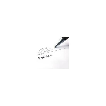 Réception Contre Signature ( avec envoi colissimo et à domicile uniquement )