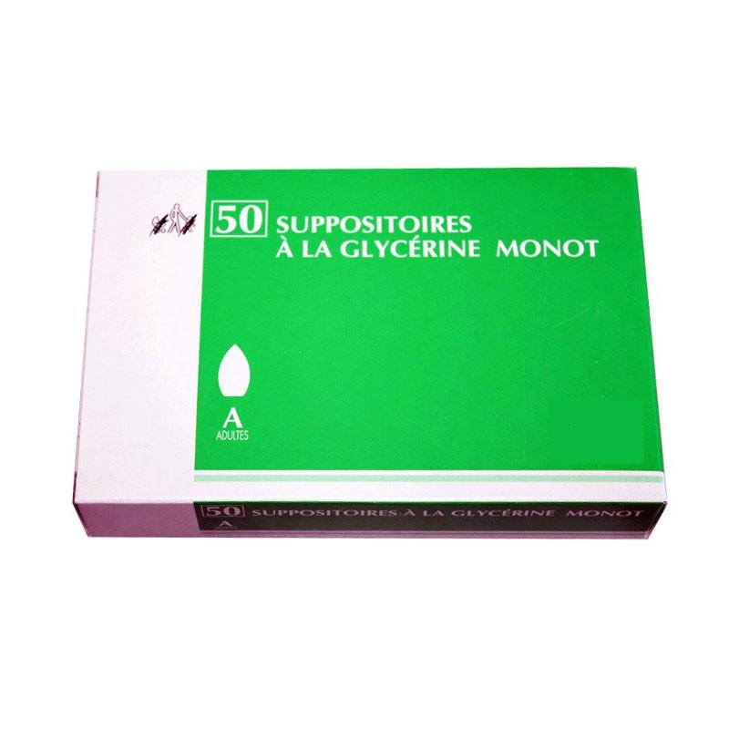 MONOT SUPPOSITOIRES A LA GLYCERINE ADULTES X 50