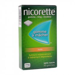 NICORETTE GOMMES FRUITS 2MG x30 JOHNSON & JOHNSON