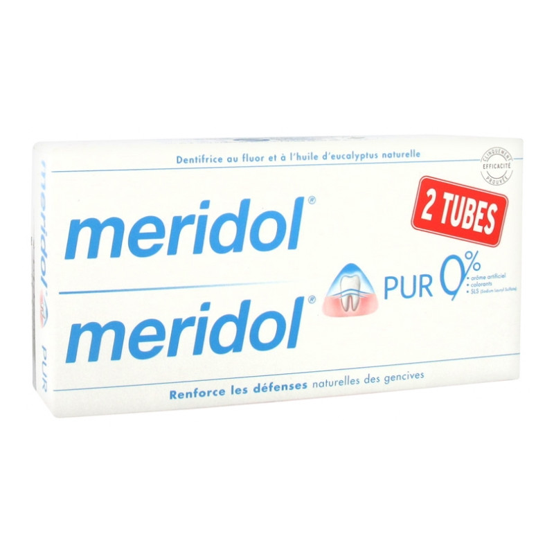 DENTIFRICE PUR LOT DE 2X75ML MERIDOL