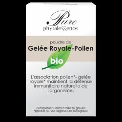 PURE GELÉE ROYALE-POLLEN BIO 60 GELULES PHYTALESSENCE