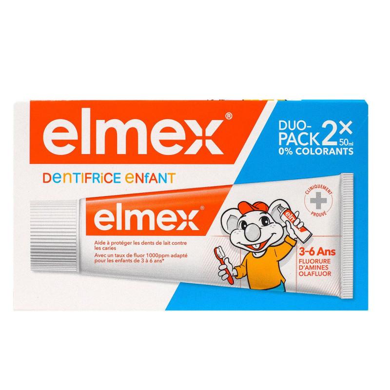 DENTIFRICE ENFANT DUO PACK 2X50ML ELMEX