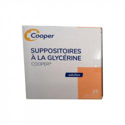 SUPPOSITOIRES A LA GLYCERINE ADULTES Boite de 25  COOPER