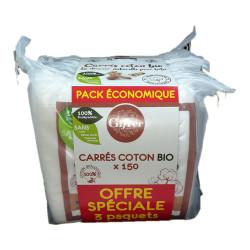 CARRÉS DE COTON BIO OFFRE SPECIALE 3X150 GIFRER