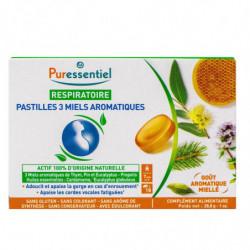 PASTILLES RESPIRATOIRE 3 MIELS AROMATIQUES X18 PURESSENTIEL