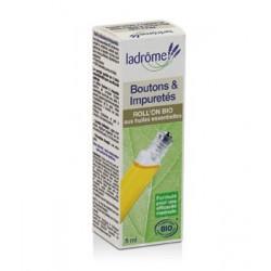 ROLL'ON BIO aux huiles essentielles BOUTONS ET IMPURETES 5 ml LADROME