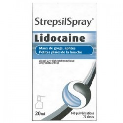 STREPSILSPRAY LIDOCAINE COLLUTOIRE 20 ML