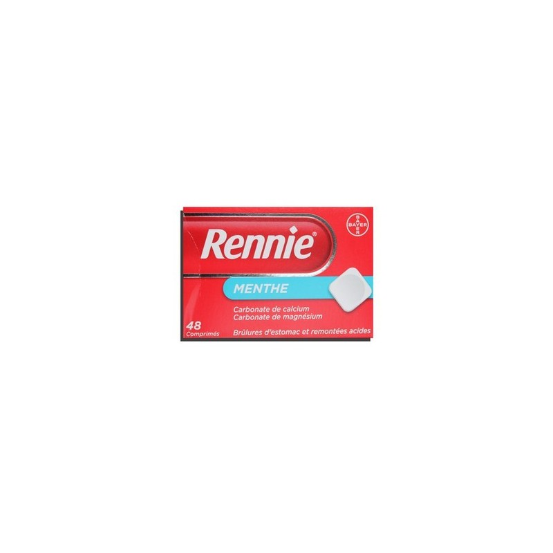 RENNIE MENTHE 48 COMPRIMES BAYER