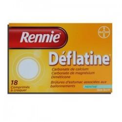 RENNIE DEFLATINE MENTHE 18 COMPRIMES BAYER