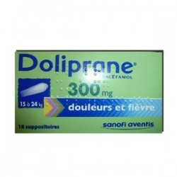DOLIPRANE 300MG 10 SUPPOSITOIRES SANOFI