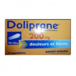 DOLIPRANE 200MG 10 SUPPOSITOIRES SANOFI
