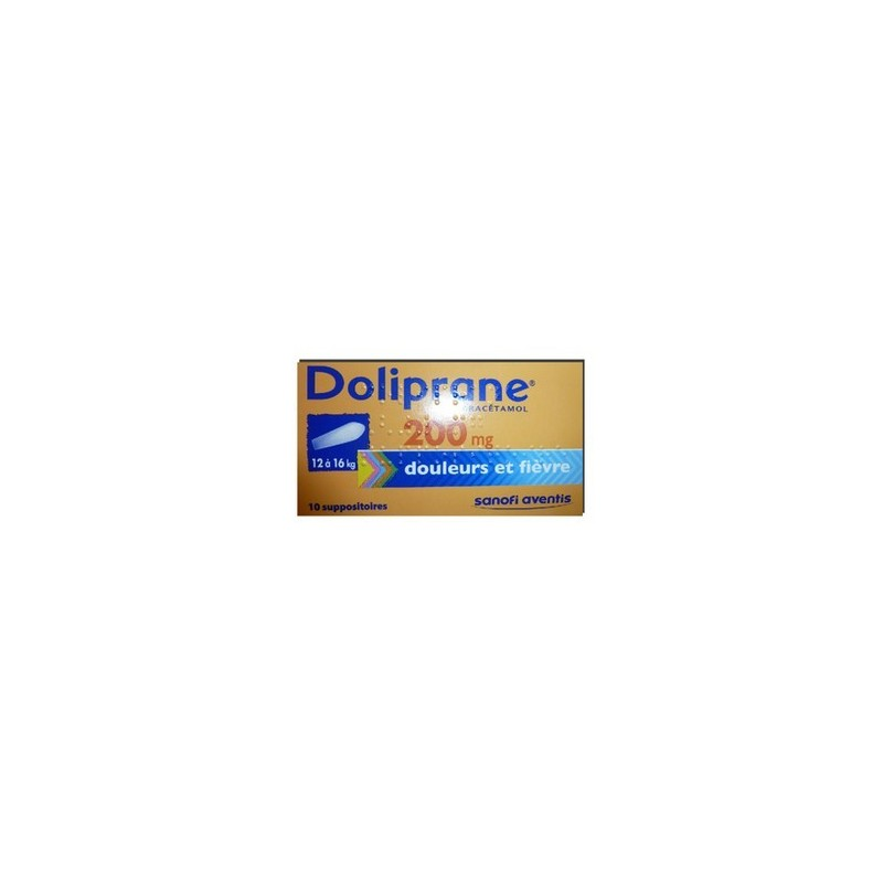 DOLIPRANE 200MG 10 SUPPOSITOIRES SANOFI