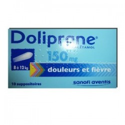 DOLIPRANE 150MG 10 SUPPOSITOIRES SANOFI