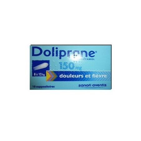 DOLIPRANE 150MG 10 SUPPOSITOIRES SANOFI