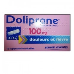 DOLIPRANE 100MG 10 SUPPOSITOIRES SECABLES SANOFI
