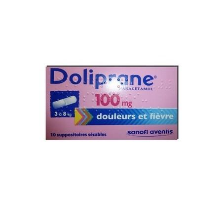 DOLIPRANE 100MG 10 SUPPOSITOIRES SECABLES SANOFI
