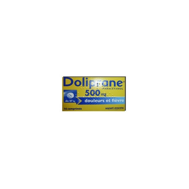 DOLIPRANE 500MG 16 COMPRIMES SANOFI