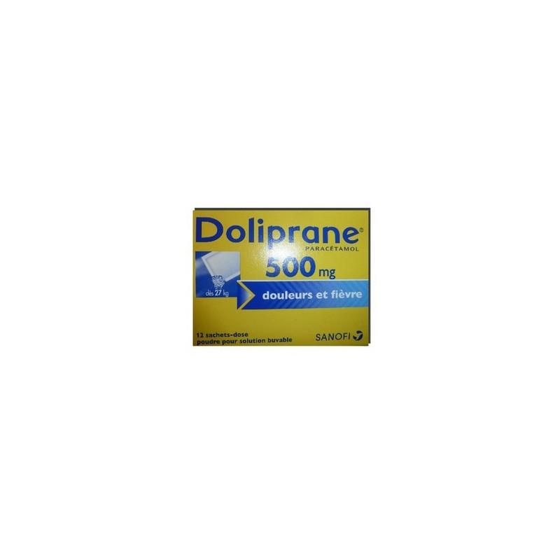 DOLIPRANE 500MG 12 SACHETS DOSES SANOFI