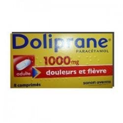 DOLIPRANE 1000MG ADULTE 8 COMPRIMES SANOFI