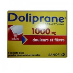 DOLIPRANE 1000MG ADULTE 8 SACHETS DOSES SANOFI