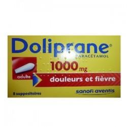 DOLIPRANE 1000MG ADULTE 8 SUPPOSITOIRES SANOFI