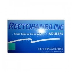 RECTOPANBILINE ADULTES 10 SUPPOSITOIRES MEDA PHARMA