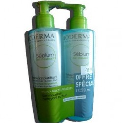 SEBIUM GEL MOUSSANT LOT DE 2 BIODERMA 200 ML
