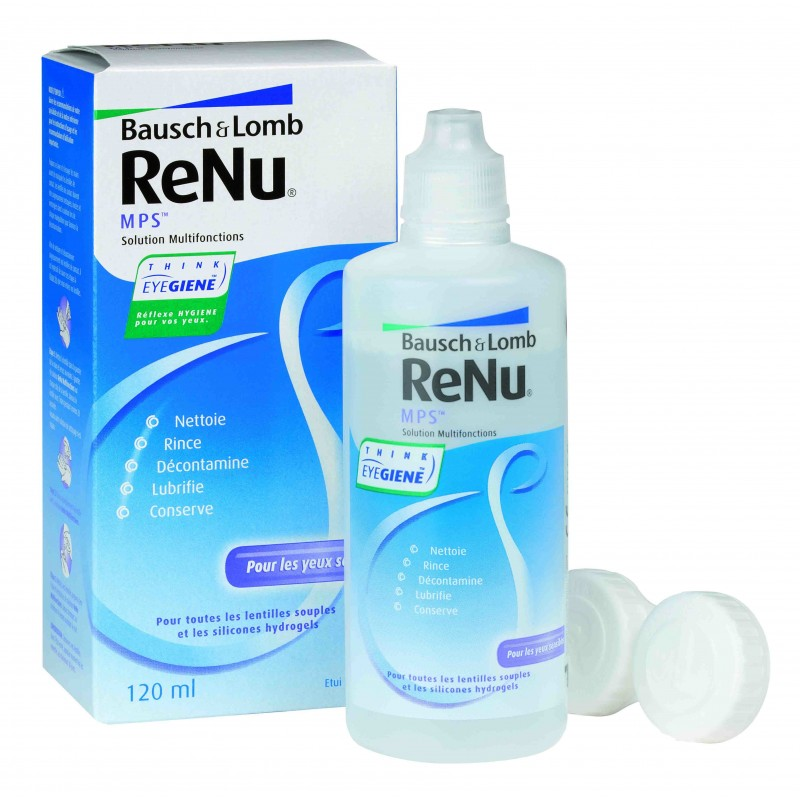 SOLUTION MULTIFONCTIONS MPS 120 ML RENU BAUSCH & LOMB