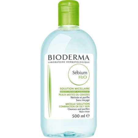 SEBIUM SOLUTION H2O PEAUX GRASSES  500 ML BIODERMA