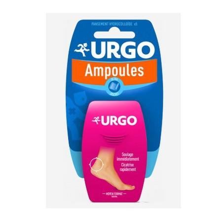 URGO AMPOULES HYDROCOLLOIDE MOYEN FORMAT 5 PANSEMENTS URGO