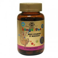 KANGAVITES AROME FRUITS ROUGES 60 COMPRIMES A CROQUER SOLGAR