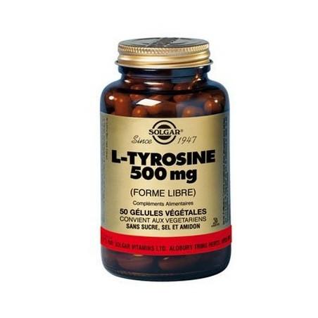L TYROSINE  50 GELULES VEGETALES SOLGAR