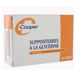 SUPPOSITOIRES A LA GLYCERINE ADULTES Boite de 100 COOPER