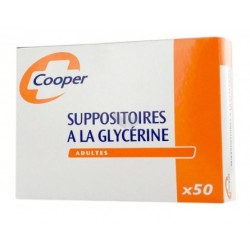 SUPPOSITOIRES A LA GLYCERINE ADULTES Boite de 50 COOPER
