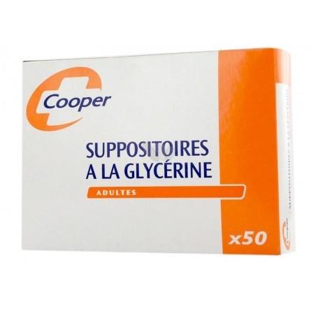 SUPPOSITOIRES A LA GLYCERINE ADULTES Boite de 50 COOPER