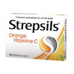 STREPSILS ORANGE VITAMINE C PASTILLES