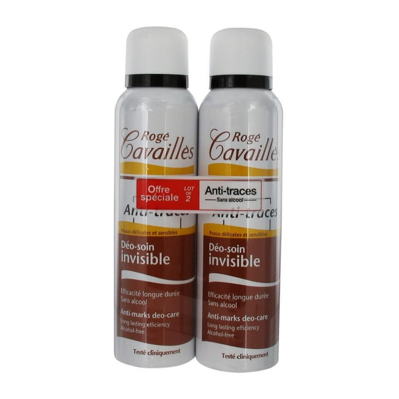 DEO SOIN INVISIBLE LOT DE 2 SPRAYS ROGE CAVAILLES