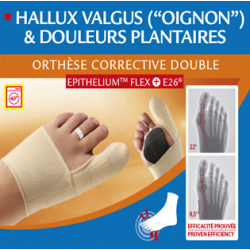ORTHESE CORRECTIVE DOUBLE PIED DROIT EPITHELIUM FLEX +E26 TAILLE S EPITACT