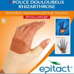 ORTHESE PROPRIOCEPTIVE SOUPLE EPITHELIUM FLEX POUCE DROIT Taille S EPITACT