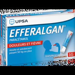 EFFERALGAN GRANULES CAPPUCINO 1G 8 SACHETS UPSA