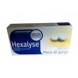 HEXALYSE MAUX DE GORGE CITRON 24 COMPRIMES BOUCHARA RECORDATI