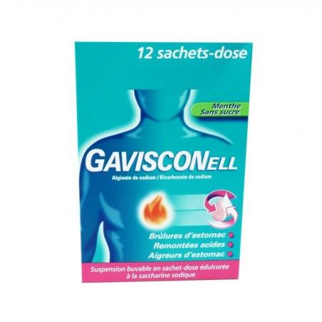 GAVISCONELL MENTHE SANS SUCRE  12 SACHETS DOSE