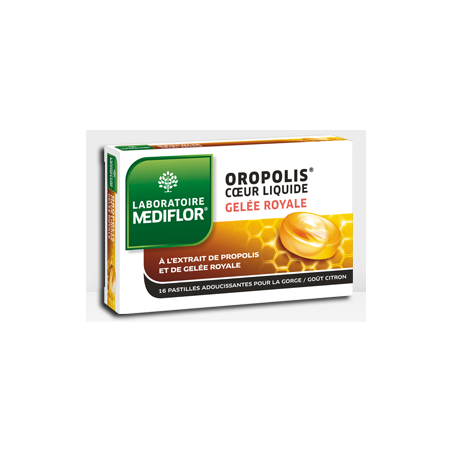 OROPOLIS COEUR LIQUIDE GELEE ROYALE 16 PASTILLES MEDIFLOR
